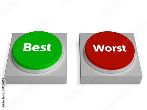 Fotografía  Best Worst Buttons Shows Champion Or Worse