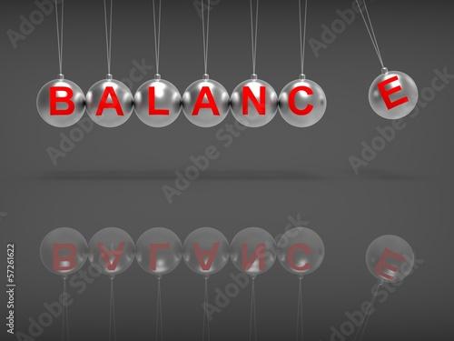 Fotografia, Obraz  Balance Spheres Showing Balanced life