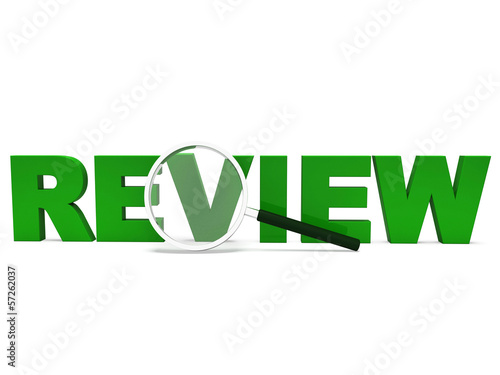 Fotografía  Review Word Shows Assessment Evaluating Evaluates And Reviews
