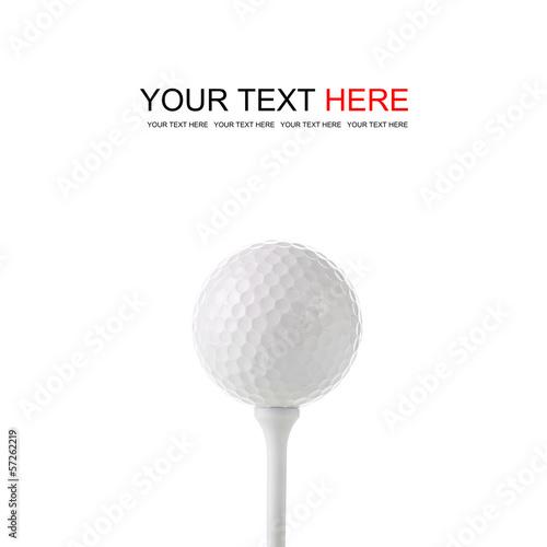 Carta da parati Golf ball on tee