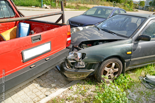 Tuinposter Snelle auto s car crash