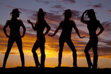 Cowgirls Silhouette