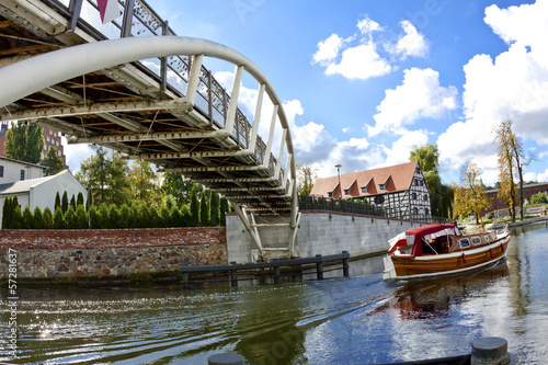 Bridge over the Brda River in Bydgoszcz - Poland