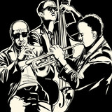 jazz band with  trumpet and double bass - 57283820