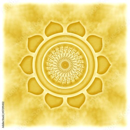 Mandala das Solarplexuschakra Canvas Print