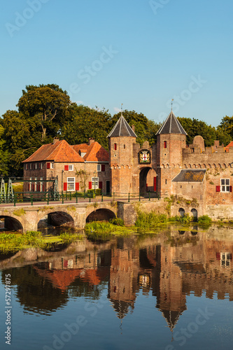The entrance of the Dutch historic city center of Amersfoort Canvas Print