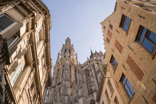 Foto op Plexiglas Antwerpen Antwerpen Kathedrale (Onze Lieve Vrouwekathedraal)