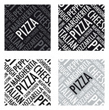 a square pizza background in black and white