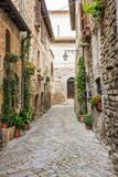Fototapeta Alley - Vicolo romantico italiano