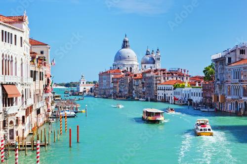 Poster Venise Venice, Italy. Grand Canal and Basilica Santa Maria della Salute
