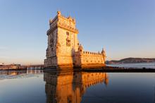 Belem Tower On A Sunset, Lisbon, Portugal