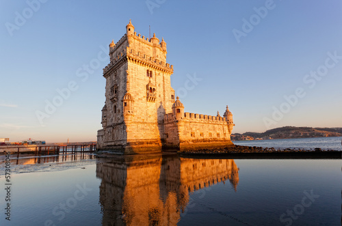 Fotografie, Obraz Belem Tower on a sunset, Lisbon, Portugal