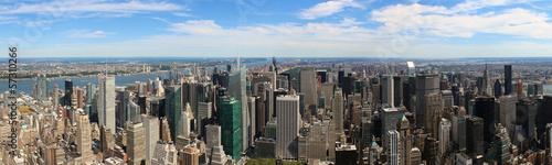 Fototapeten New York New York City Aerial panoramic view