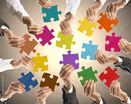 Fototapeta na wymiar Teamwork and integration concept