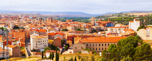panorama of Teruel with landmarks