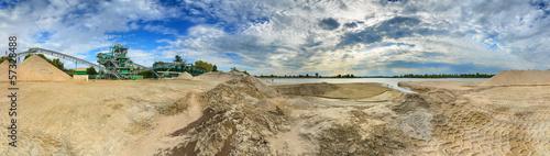 Obraz na plátně A gravel sand plant panorama in Germany