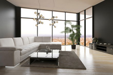 Modern Living Room Interior Wi...