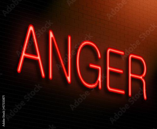 Photo Anger concept.
