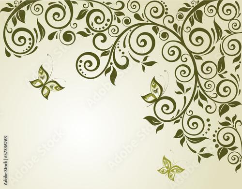 Floral vintage background.