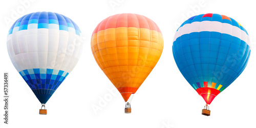 Aluminium Prints Balloon Colorful hot air balloons