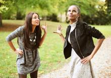 Freundinnen Streiten Sich