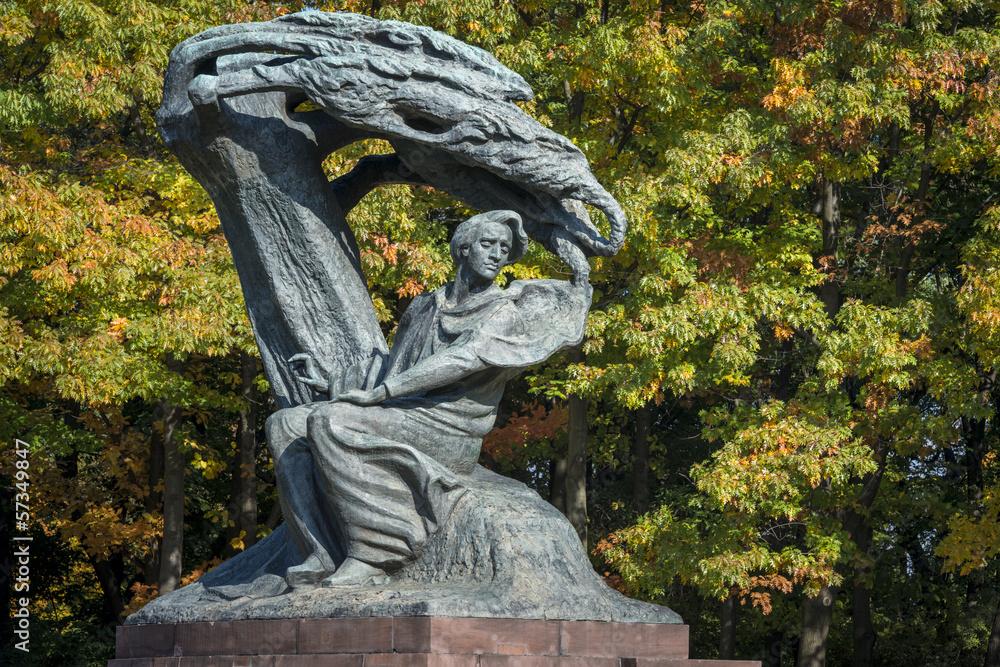 Fototapety, obrazy: Pomnik Fryderyka Chopina w Łazienkach Królewskich