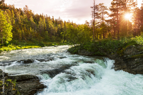 Canvas Prints River River in Norway
