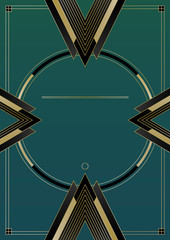 Naklejka Arrows Art Deco Background