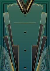 Naklejka Fans Art Deco Background