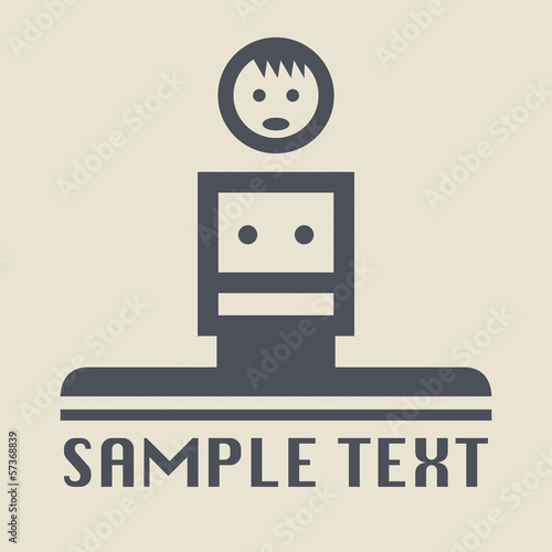 In de dag Robots Avatar, different situations icon or sign, vector