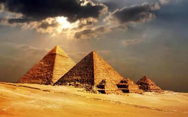 piramidy w Gizie, Kair, Egipt