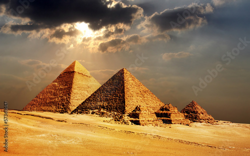 giza pyramids, cairo, egypt Tablou Canvas