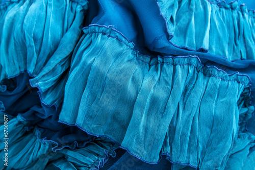 Photo sur Aluminium Aquarelle avec des feuilles tropicales Blue fabric