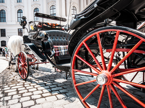 Traditional Fiaker carriage at Hofburg in Vienna, Austria Tapéta, Fotótapéta