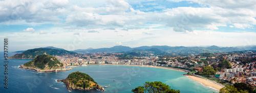 Fotografija Donostia San Sebastian panorama