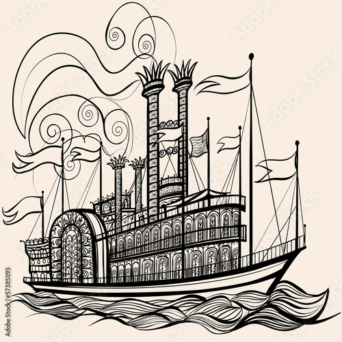 old steamboat Canvas-taulu