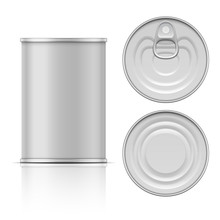 Tin Can With Ring Pull: Side, ...