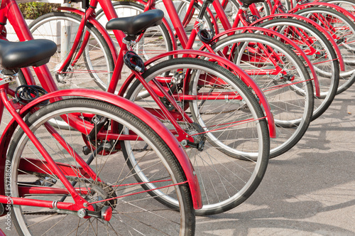 Aluminium Prints Bicycle bicycle parking at the campus