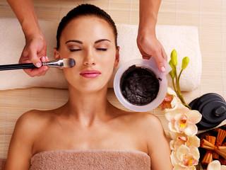 woman having beauty treatments  in the spa salon