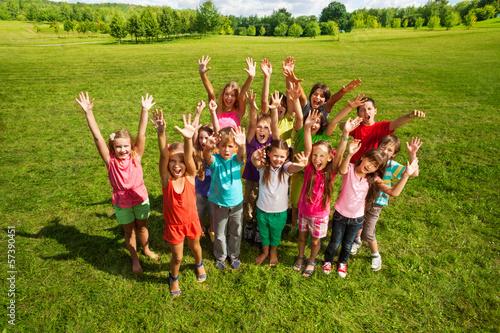 Fotografie, Obraz  Huge group of kids in the park