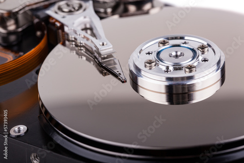 Fotografia  computer hard drive closeup