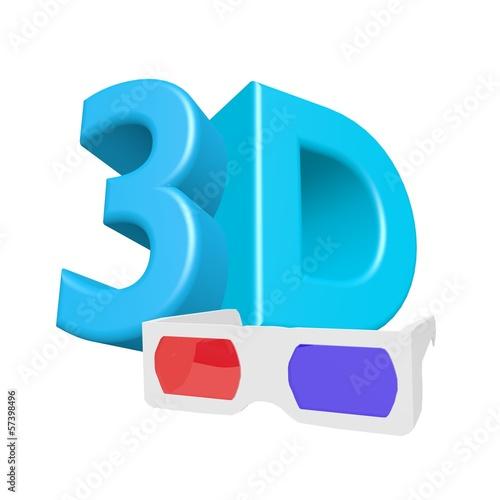 3D glasses cinema