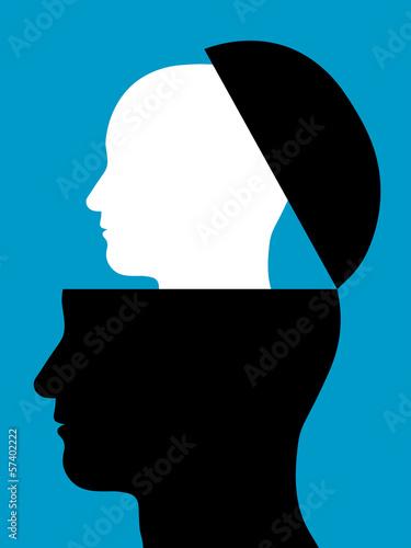 Fotografie, Tablou  Head inside a head