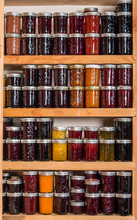 Storage Shelves With Canned Goods