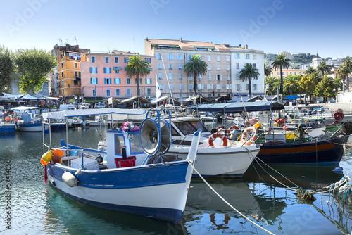 Port Ajaccio Tino Rossi Canvas Print