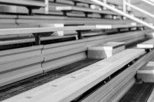 Bleachers In A Stadium Or School For The Fans.
