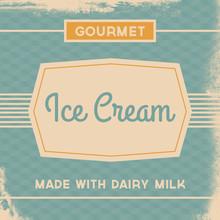 Retro Ice Cream Sign