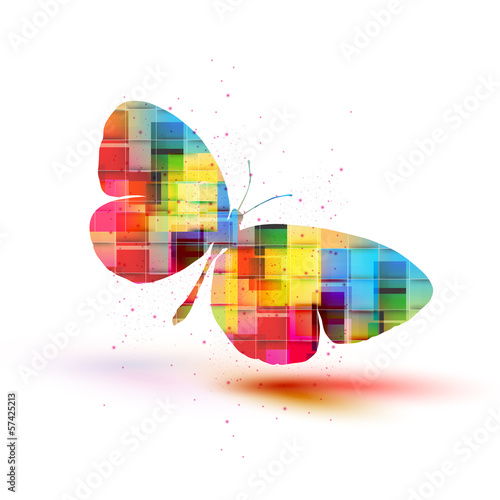 Deurstickers Vlinders in Grunge Vector butterflies background design, Colorfull EPS 10 concept