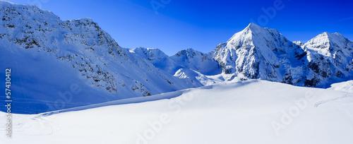 Winter mountains, panorama of the Italian Alps #57430412