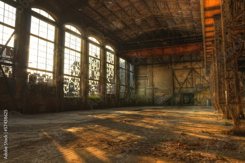 Photo Stands Old abandoned buildings Abandoned hall